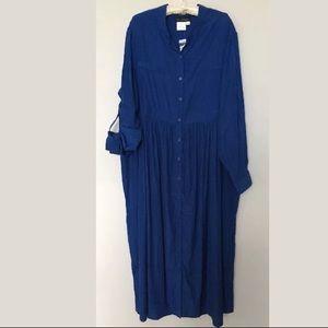 ULLA POPKEN Cobalt Blue maxi dress 16/18 NWT